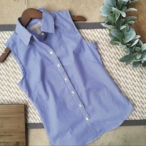 Banana Republic Blue Striped Button Down Shirt